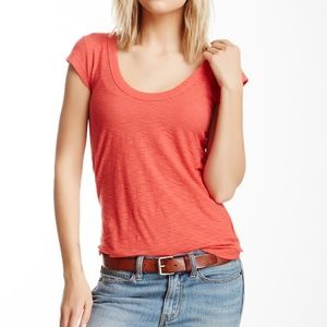 James Perse Cap Sleeve Tee in Rouge Size 1